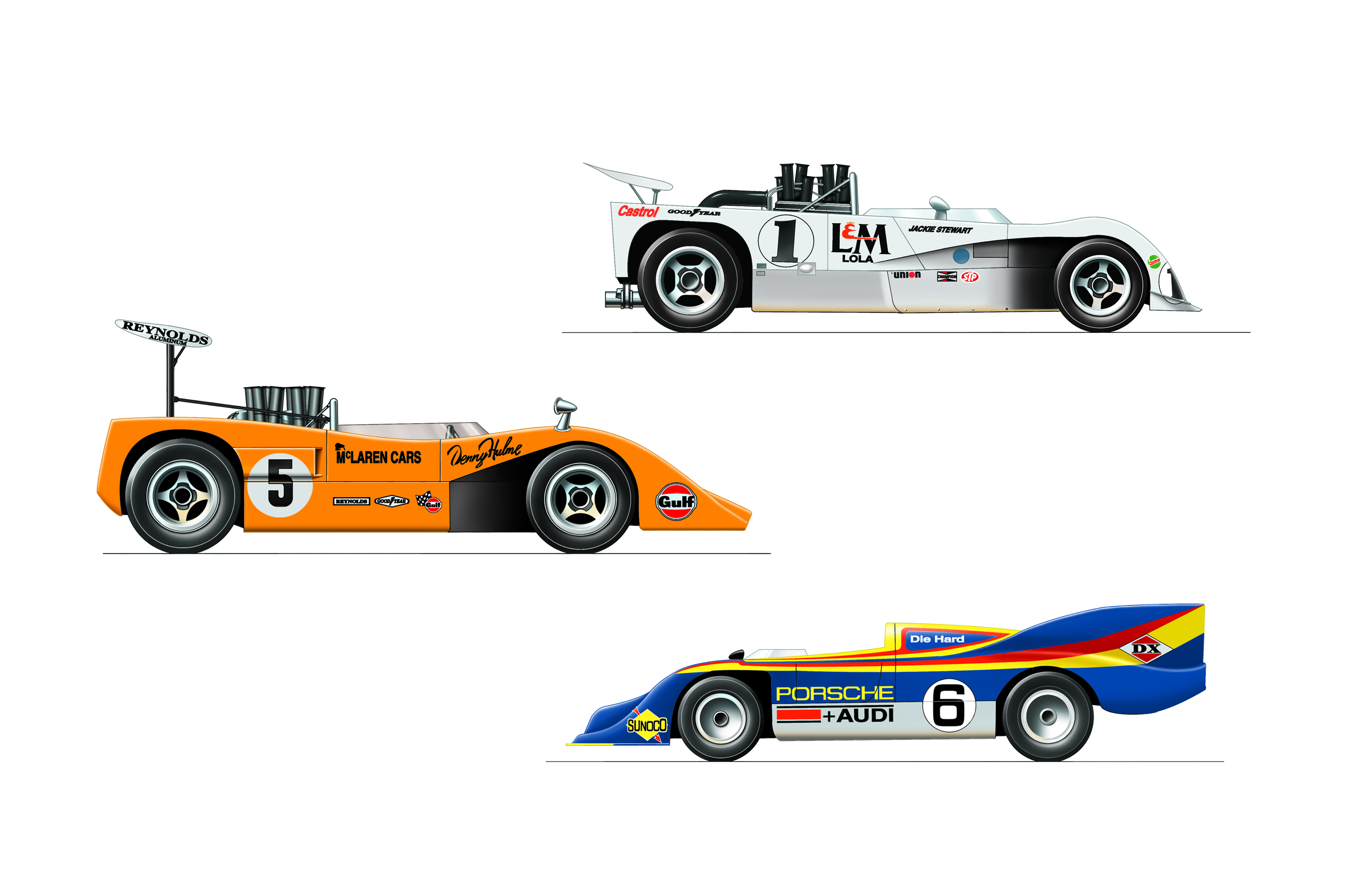can am cars 2 dave russell illustration. Black Bedroom Furniture Sets. Home Design Ideas